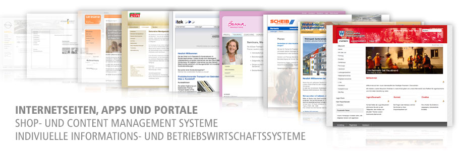 Internetseiten, Shops, Informationssysteme